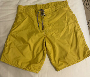 Birdwell Yellow Beach Britches 33 (8 In Inseam)