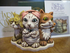 Harmony Kingdom Feline Evil Cats See Hear Speak No Evil Uk Made Box Figurine