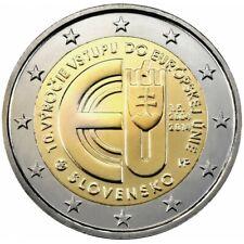 2 Euro Commémo Slovaquie-slovensko 2014 10 Ans Adhesion UE  - UNC