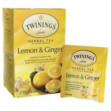 Twinings Herbal Tea Lemon & Ginger Naturally Caffeine Free 20 Bag(S)
