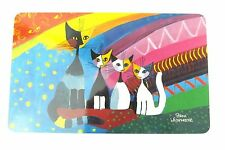 "Rosina Wachtmeister Cat Breakfast Cutting Board - Hot stand  ""Under the Rainbow"""
