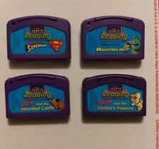 Lot of 4 Leap Frog LeapPad Leap 2 Reading Cartridges: Superman, Monsters, Scooby