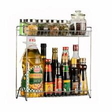 New Spice Rack 2 Layers Stainless Steel Detachable Kitchen Shlves Home Supplies