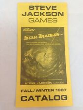 Steve Jackson Games Fall Winter Catalog 1987 Gyros Ephemera Rules Book Role Play