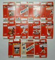 Lot of 11 Wheaties Boxes - Muhammad Ali Lou Gehrig Jackie Robinson and More
