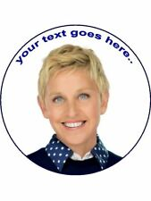 Ellen Degeneres personalised wafer / Icing edible Round Cake topper