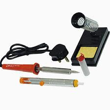 4 Pieza Electrónica De Soldar Set Kit 30 vatios y soporte de hierro Desoldado Bomba De Soldadura