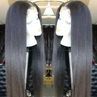 Silky Straight Full Lace Front Wig Remy Malaysian Human Hair Wig Bleach Knots K3
