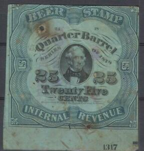 US Beer Tax revenue 1898 25 Cents fiscal