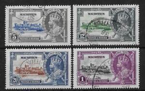 Mauritius 1935 Silver Jubilee SG245-248 Fine Used Cat£50