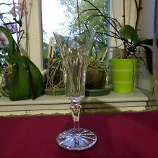 flûte à champagne en cristal de saint louis modèle Camargue signé H 18,4 cm