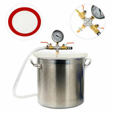 5Gallon Stainless Steel Vacuum Chamber Kit single or dual stage 3-9 CFM pumps AU