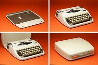 1971 Adler Tippa Manual Portable Typewriter in Case Made in Holland Vintage VGC