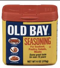 OLD BAY Seasoning 6oz FREE SHIPPING Exp:06/2021