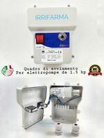 Quadro elettrico avviamento protezione termica X elettropompa pompa 1.5 hp Mono