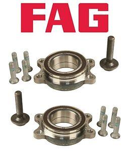 For Audi A4 A5 A6 Quattro Q5 RS7 S4 S5 Pair Set of 2 Rear Wheel Bearing Kits FAG