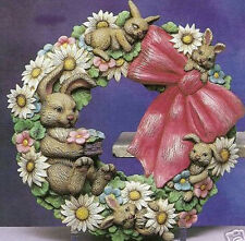 Ceramic Bisque Ready to Paint Easter Bunny Wreath