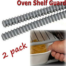 Oven Shelf Rack Guard Protector, Silicone Protecta, Heat Resistant - 2 Pack, New