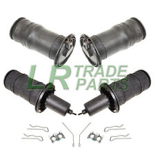 RANGE ROVER P38 NEW FRONT & REAR AIR SUSPENSION SPRING BAG SET, DUNLOP & CLIPS