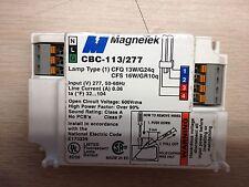 10 PIECE MAGNETEK CBC-113/277  1 LAMP CF13/4P 277V FLUORESCENT BALLAST 277V