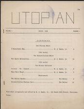 UTOPIAN Vol.1  #1, March 1949, Sci-Fi Fanzine - VG