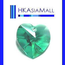 6x Swarovski Crystal Beads Heart 6202 BLUE ZIRCON 10mm