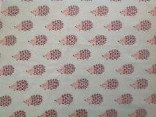 ~ FLANNEL ~ Hedgehog~Quilting~Fabric~Flannelette~Mint Green~Grey~Baby~Boys~ FQ ~