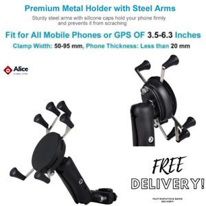 RAM Motorcycle Bike Handlebar Rail Mount X-Grip Holder Cell Mobile Phone GPS