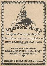 Z2022 Argenteria Krupp - Posate e Servizi da tavola - Pubblicità d'epoca - Adv.