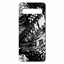 For Samsung Galaxy S10 Silicone Case Racing Car Black - S2110