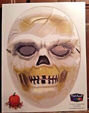 Halloween Mask Cutout SKULL Portage MI Printing With Head Strap Costume SKELETON