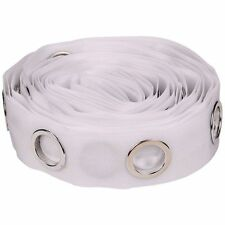 5M Eyelet Curtain Tape 40 Rings Accessories Sewing Sliver Curtains Blinds A5A7