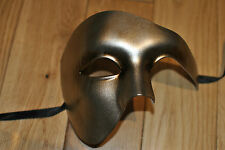Mens Bronzed gold Venetian Phantom/Half face Mask.Masquerade /Ball /Prom.UK POST