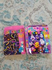 Lisa Frank Vintage braiding and lace Craft Art Set beads Pom Poms opened boxes