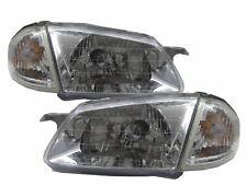 323 BJ 1998-2000 Sedan/Wagon Clear Headlight Headlamp CHROME V1 for MAZDA LHD