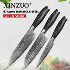Kitchen Knife Set Knives Damascus Steel Chef Cleaver Santoku Boning Utility Pair