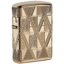 Zippo Armor Gold Plated Lighter, Diamond Design, 2-Sided, Multi-Cut, 29671