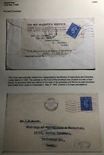 1945 Huddersfield England Economy Label Cover To Ministry Of Agriculture Leeds
