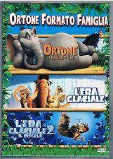 ORTONE E IL MONDO DI CHI L'ERA GLACIALE 1 E 2  BOX  3 DVD F.C. SIGILLATO!!!