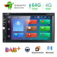 2 Din 4GB+64GB Android 9.0 8 Core Car Stereo GPS Head Unit RDS OBD2 DAB+ DVD CD