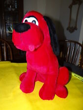 "17"" Plush CLIFFORD THE BIG RED DOG Large Stuffed Puppy EUC RARE tongue out."