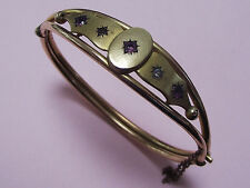 ANTIQUE ROLLED GOLD & DIAMOND PASTE BANGLE 1890