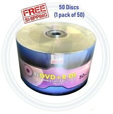 50 LSK Media DVD +R DL 8x Dual Double Layer Logo 8.5GB/240Min - (Comp to HP)