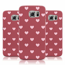 DYEFOR PINK HEARTS SMALL PRINT RED CASE COVER FOR SAMSUNG GALAXY MOBILE PHONES