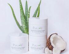 Pura V Aloe Skin Care Cream, Moisturizer, All Natural,