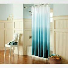 Threshold Cool Ombre Fabric Shower Curtain Blue/Aqua/White NEW