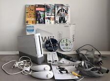 Nintendo Wii Console Bundle + 6 Games 2 Controllers 2 Nun Chuck - Working (M28)