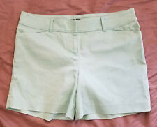 THE LIMITED Mint Green Shorts 14 Cotton Blend
