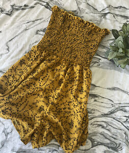 Yellow Mustard Playsuit Romper Size 12