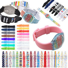 For S watch 12mm 16mm 17mm 19mm 20mm Rubber Silicone Watchband Wrist Sport Strap